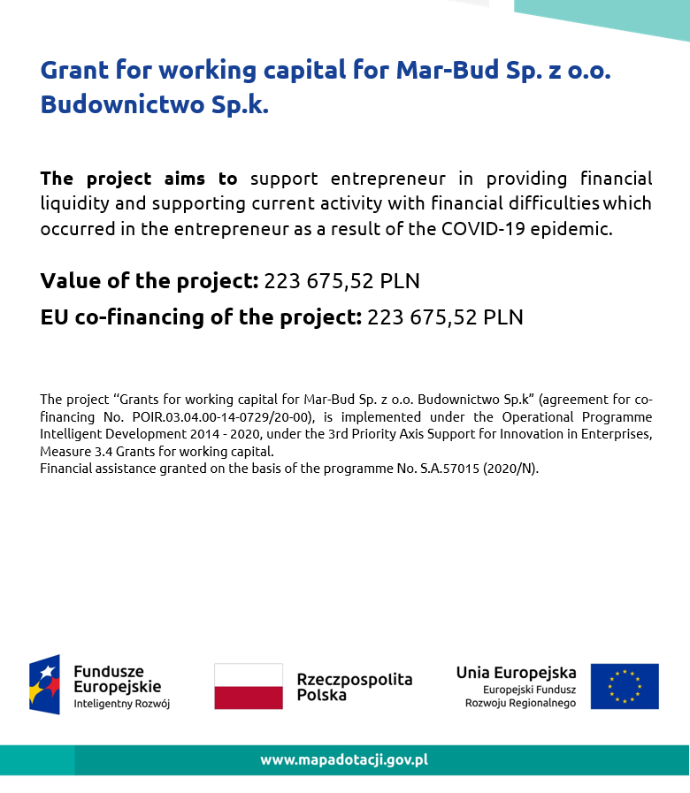 Grant for working capital - poster
